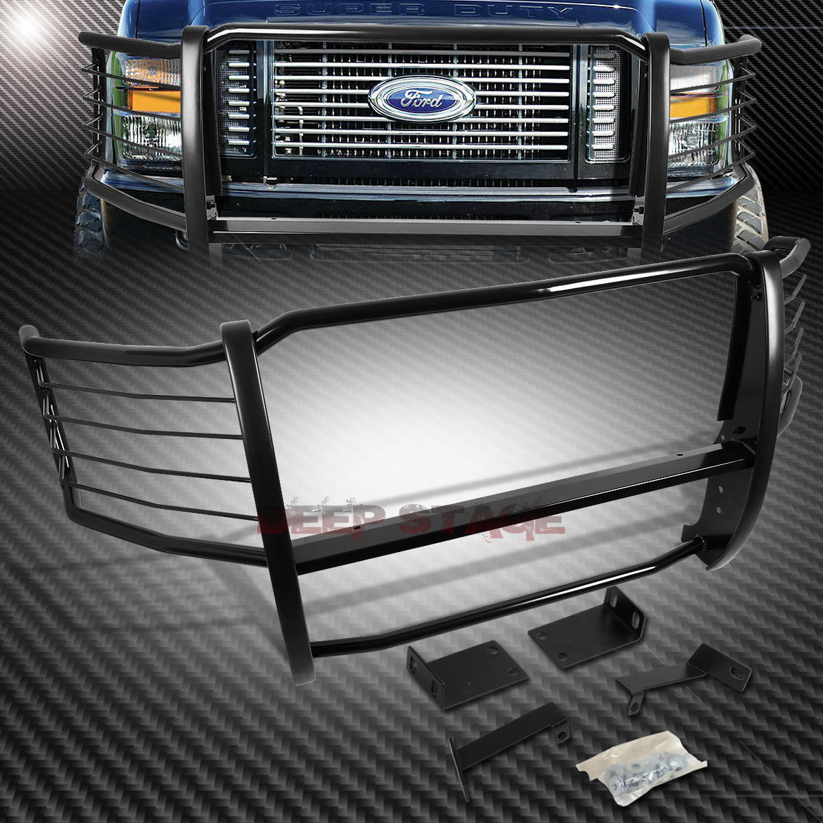 グリル カーボンスチールフロントバンパーブラシグリルガード08-10 F250-F550 SD SUPERDUTY CARBON STEEL FRONT BUMPER BRUSH GRILLE GUARD FOR 08-10 F250-F550 SD SUPERDUTY