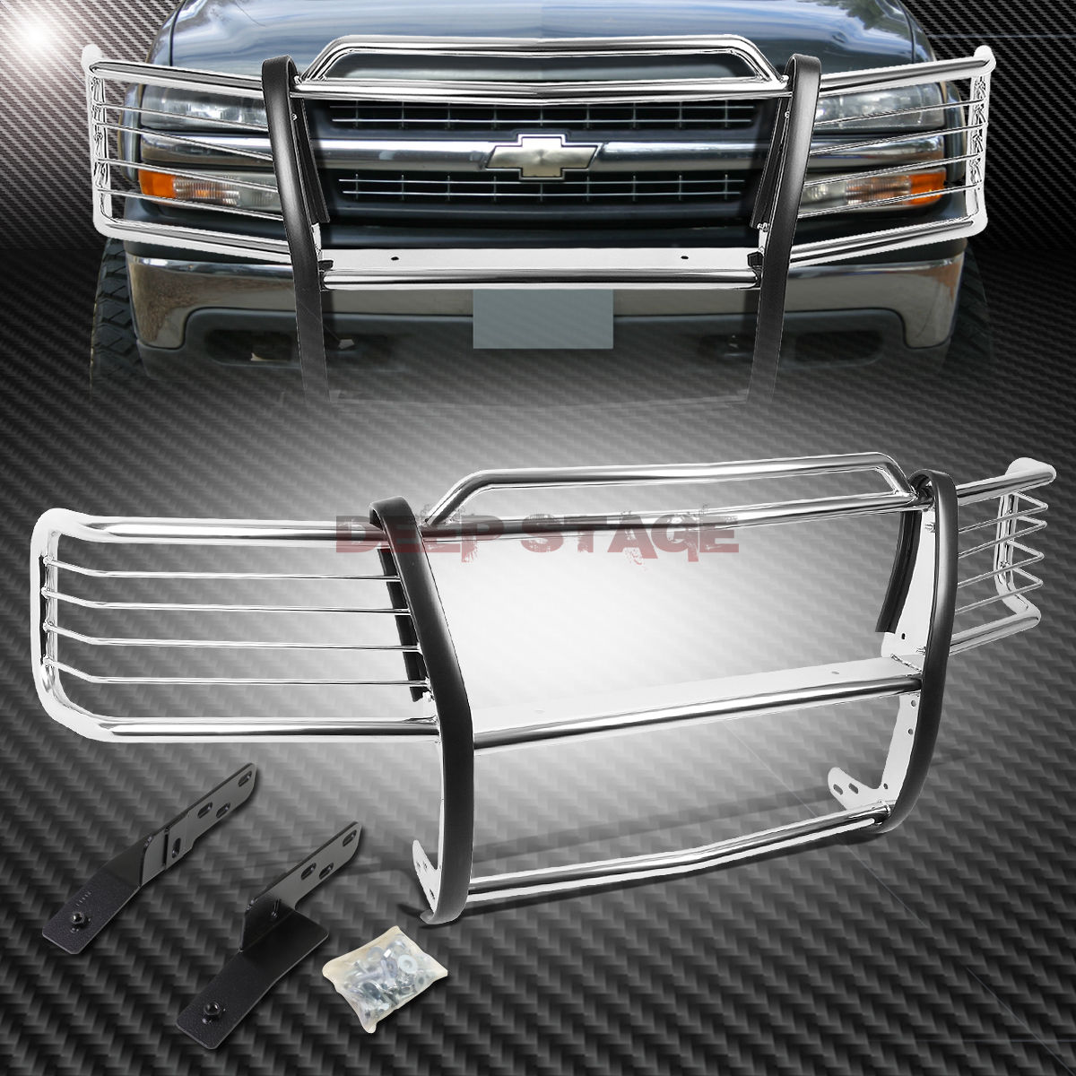 グリル クロムステンレスフロントバンパーグリルガード00-06 TAHOE / SUBURBAN 1500 CHROME STAINLESS STEEL FRONT BUMPER GRILL GUARD FOR 00-06 TAHOE/SUBURBAN 1500