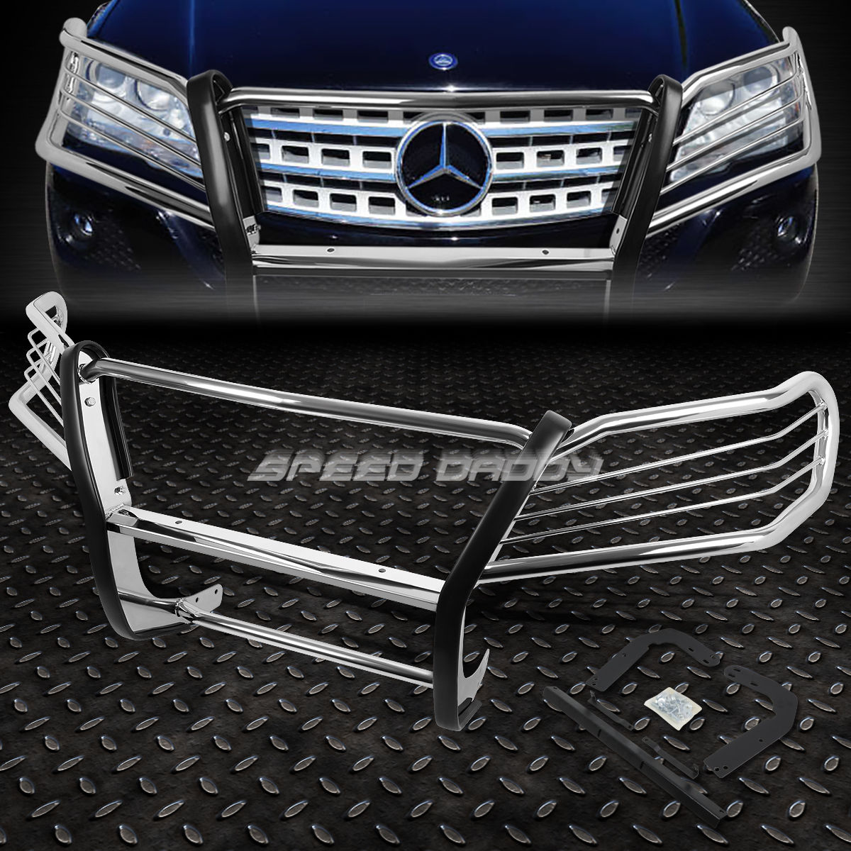 グリル クロムステンレスフロントバンパーグリルガード05-11 MERCEDES M-CLASS W164 CHROME STAINLESS STEEL FRONT BUMPER GRILL GUARD FOR 05-11 MERCEDES M-CLASS W164