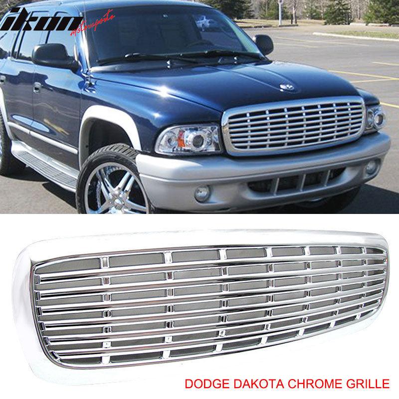 ☆送料無料☆USパーツ 海外メーカー輸入品 完全送料無料 グリル 97-03 Dodge Dakota DurangoキャブピックアップフロントフードグリルABSクローム Durango Chrome Hood Cab 全品送料無料 Pickup Grille ABS Front