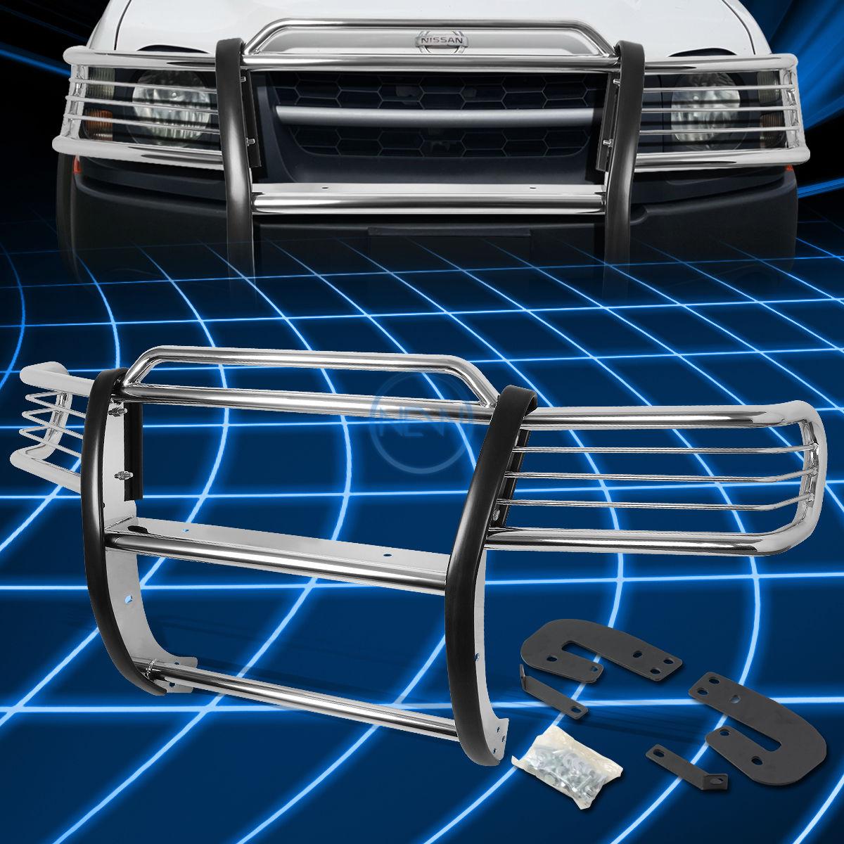 グリル クロームブラシバンパープロテクターグリルガード(2002 - 2004年)日産Xterra WD22 SUV Chrome Brush Bumper Protector Grille Guard for 2002-2004 Nissan Xterra WD22 SUV