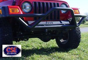 グリル 391150211アウトランドRRCフロントバンパー(グリルガード付き) - Black-JE  EP Wranglers 1987-2006 391150211 Outland RRC Front Bumper w/Grille Guard-Black-JEEP Wranglers 1987-2006