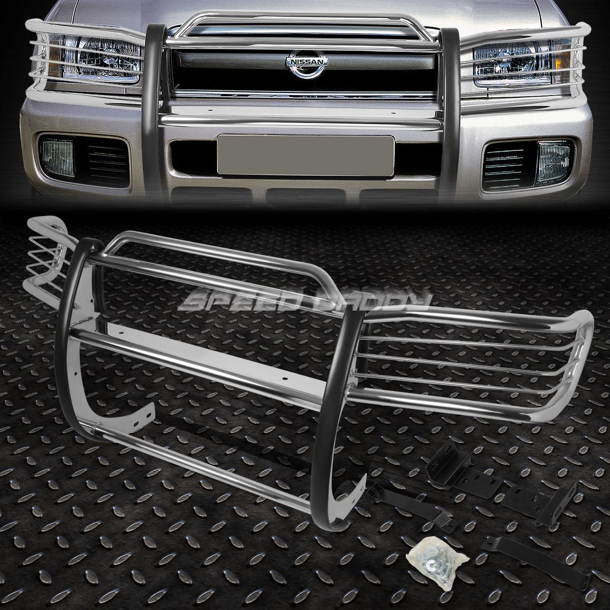 グリル NISSAN PATHFINDER SUVのためのステンレススチールフロントバンパーグリルガード CHROME STAINLESS STEEL FRONT BUMPER GRILL GUARD FOR 96-04 NISSAN PATHFINDER SUV