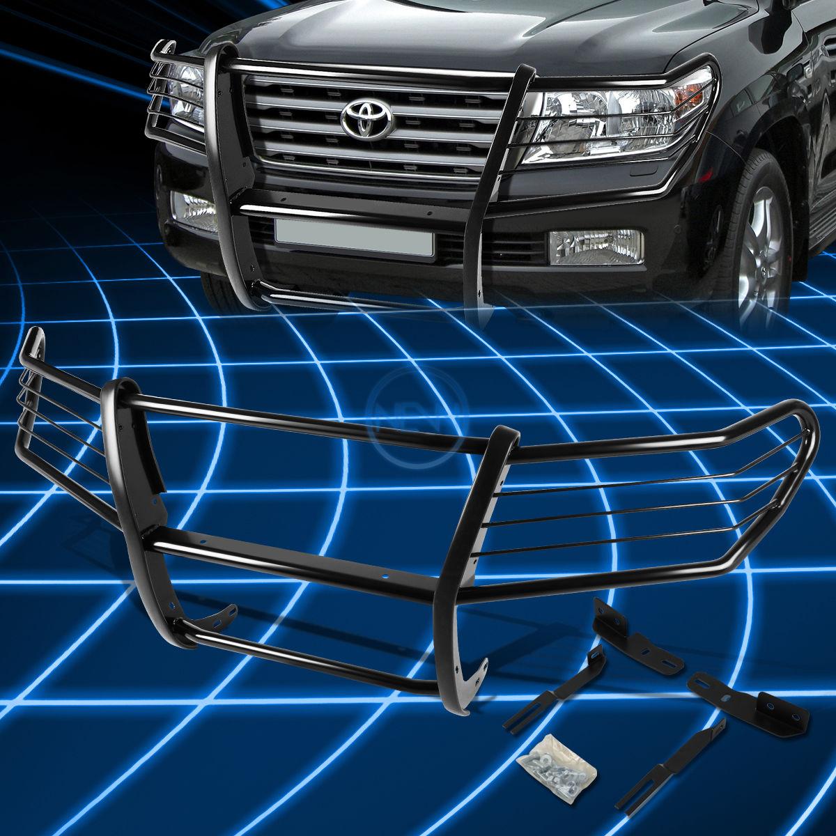 グリル ブラックブラシバンパープロテクターグリルガード2008-2015用ランドクルーザーJ200 SUV Black Brush Bumper Protector Grille Guard for 2008-2015 Land Cruiser J200 SUV