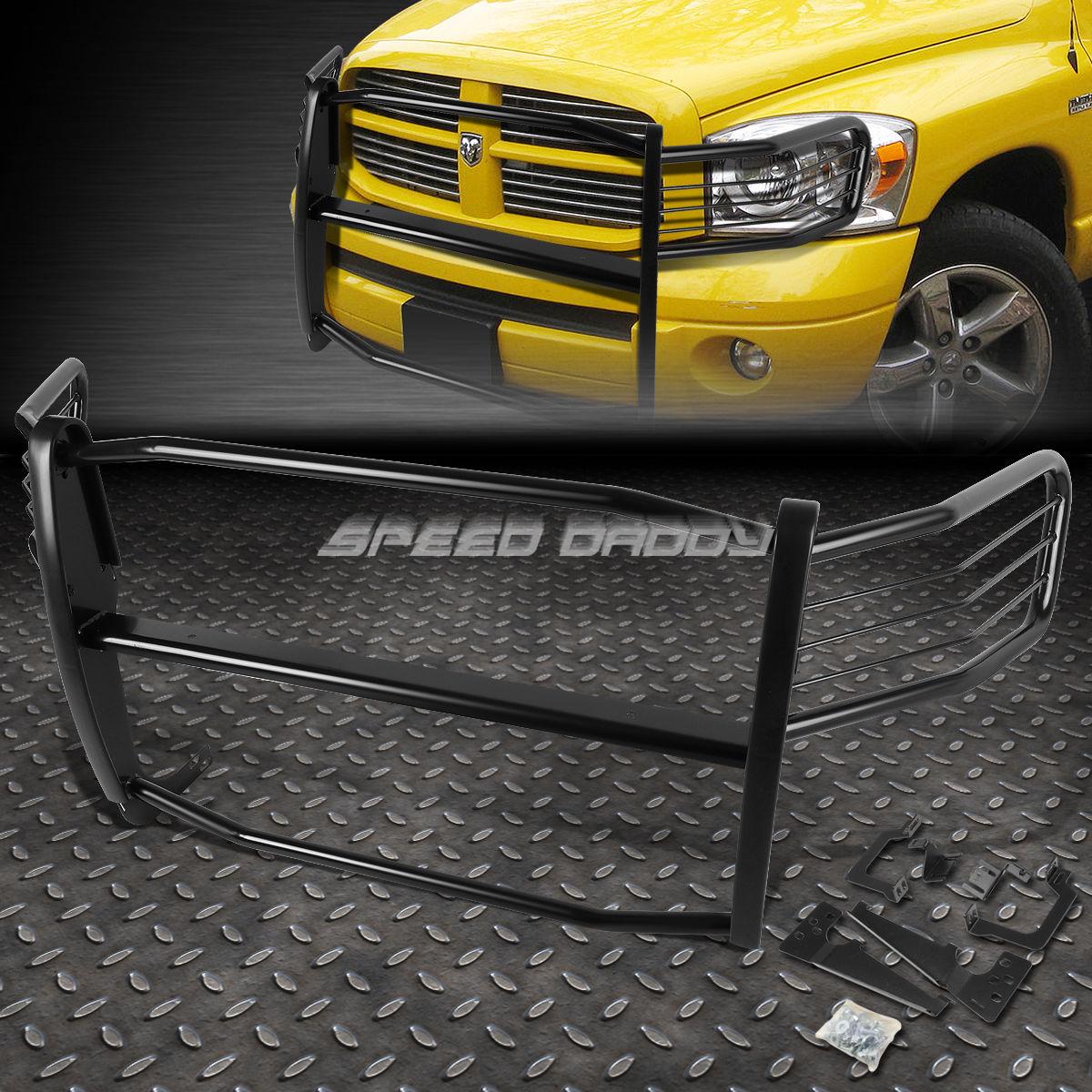 グリル 黒塗装されたミルクスチールフロントグリルフレームガード06-08 RAM 1500-3500メガCAB BLACK COATED MILD STEEL FRONT GRILL FRAME GUARD FOR 06-08 RAM 1500-3500 MEGA CAB