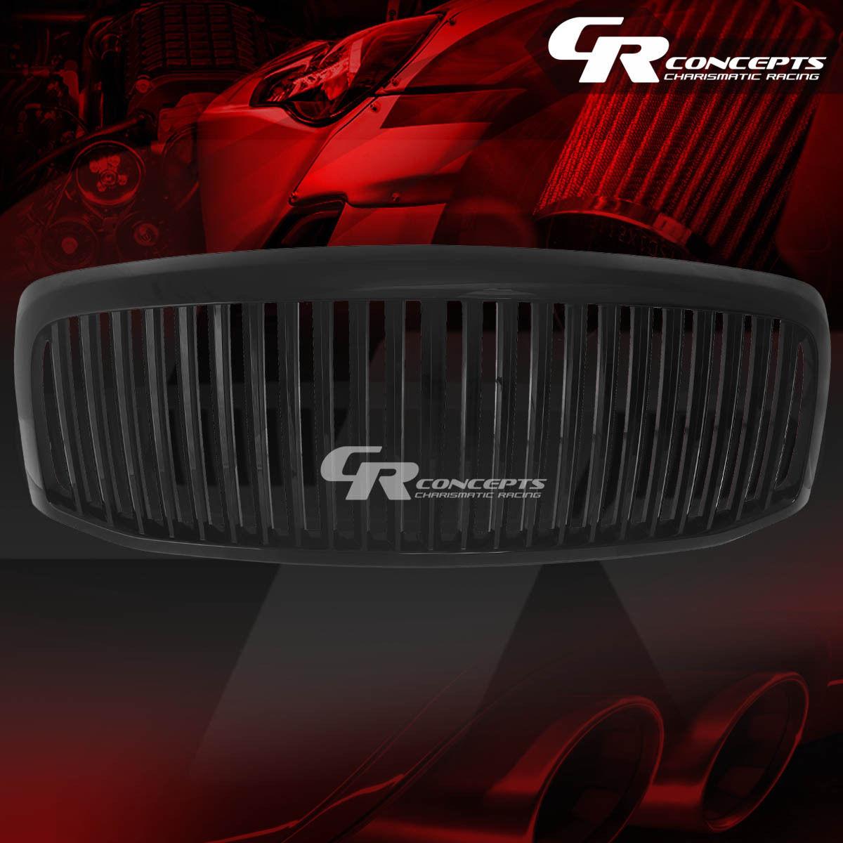 グリル FOR 06-08 RAM 1500/2500/3500 BLACKフロントアッパーバンパーグリルガード FOR 06-08 RAM 1500/2500/3500 BLACK FRONT UPPER BUMPER VERTICAL GRILLE GUARD