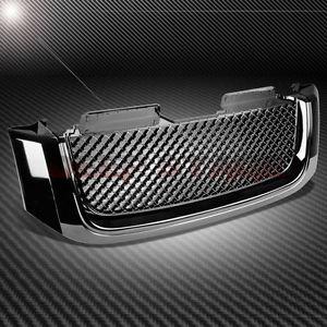 グリル 02-08 GMC ENVOY BLACK ABSフロントフントベントレースタイルグリル/グリルカバーガード 02-08 GMC ENVOY BLACK ABS FRONT HOOD BENTLEY STYLE GRILL/GRILLE COVER GUARD