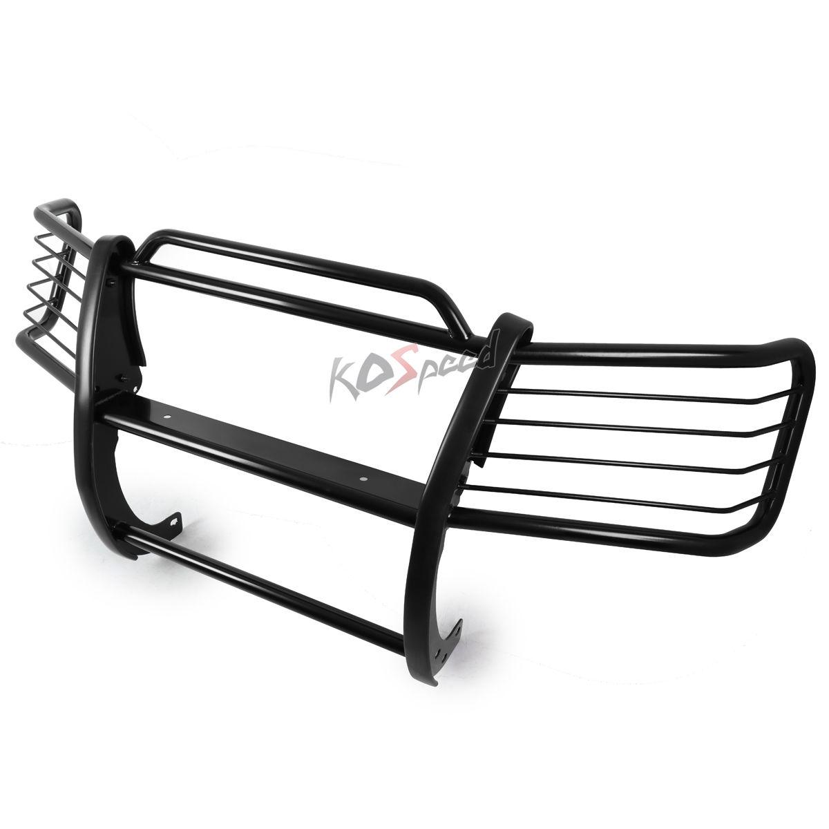 グリル 09-17ダッジラム1500ピックアップ用黒色軟鋼合金グリルガードフレームバー Black Mild Steel Alloy Grille Guard Frame Bar for 09-17 Dodge Ram 1500 Pickup