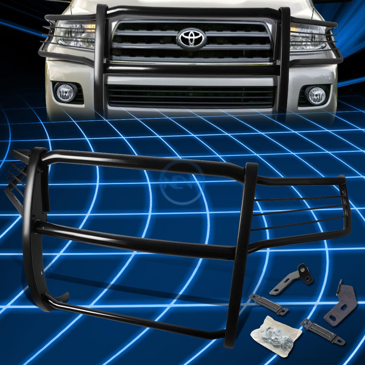 グリル ブラックブラシバンパープロテクターグリルガード2008-2016トヨタセコイア5dr SUV Black Brush Bumper Protector Grille Guard for 2008-2016 Toyota Sequoia 5dr SUV