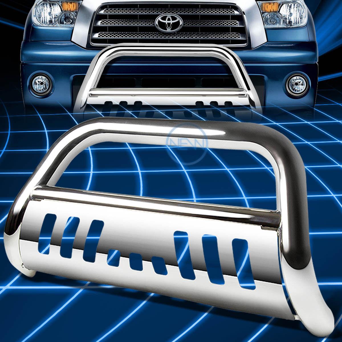 グリル クロムSSフロントバンパーブルバーグリルガード2007-2016トヨタトンドラ/セコイア Chrome SS Front Bumper Bull Bar Grille Guard for 2007-2016 Toyota Tundra/Sequoia