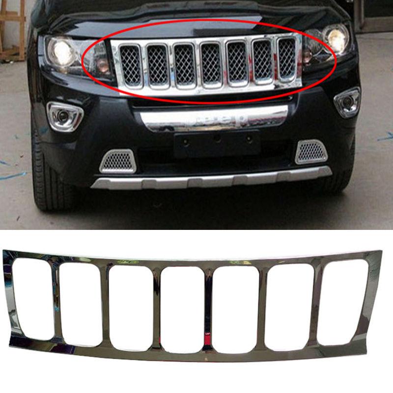 グリル ジープコンパス2007-2010用フロントバンパーグリルガード+ハニカム bインサートステッカーA For Jeep Compass 2007-2010 Front Bumper Grille Guard+Honeycomb Insert Sticker A