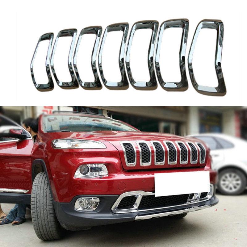 グリル ジープチェロキー2014-2016用フロントバンパーグリルガード+ハニカム bインサートABS For Jeep Cherokee 2014-2016 Front Bumper Grill Guard+Honeycomb Insert ABS