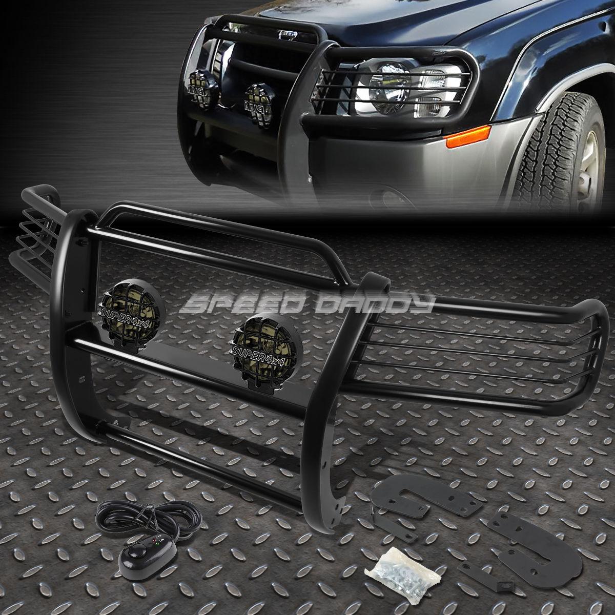 グリル ブラックブラッシュグリルガード+ ROUND SMOKE FOGライト02-04日産XTERRA WD22 SUV BLACK BRUSH GRILLE GUARD+ROUND SMOKE FOG LIGHT FOR 02-04 NISSAN XTERRA WD22 SUV
