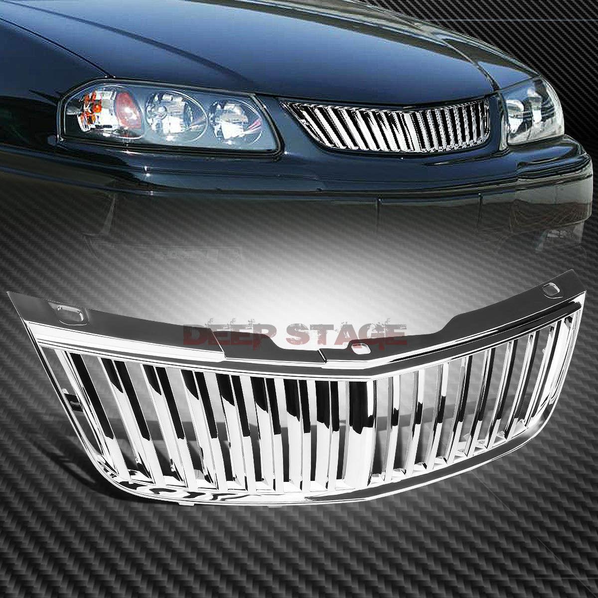 グリル クレームABS枠バンパー上部グリルガード00-05 IMPALA 3.4 / 3.8 V6 CHROME ABS FRAME BUMPER UPPER VERTICAL GRILL GUARD FOR 00-05 IMPALA 3.4/3.8 V6