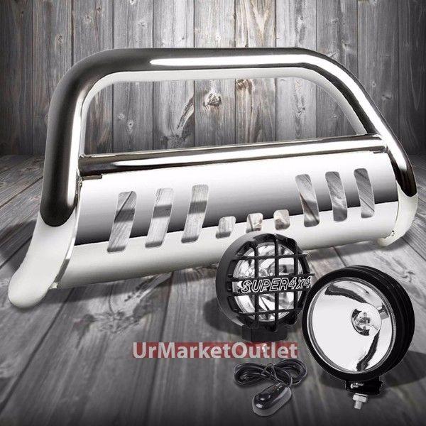 グリル クロームブルグリルガード+ブラックハウスクリアLenフォグライト11-16 FシリーズSD用 Chrome Bull Grille Guard+Black House Clear Len Fog Light For 11-16 F-Series SD
