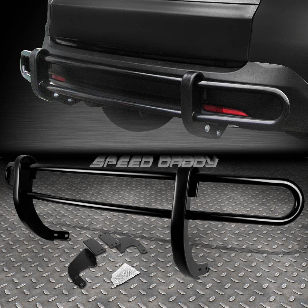 グリル 黒塗りダブルバーリアバッファープロテクターガード07-13 ACURA MDX YD2 SUV BLACK COATED DOUBLE BAR REAR BUMPER PROTECTOR GUARD FOR 07-13 ACURA MDX YD2 SUV