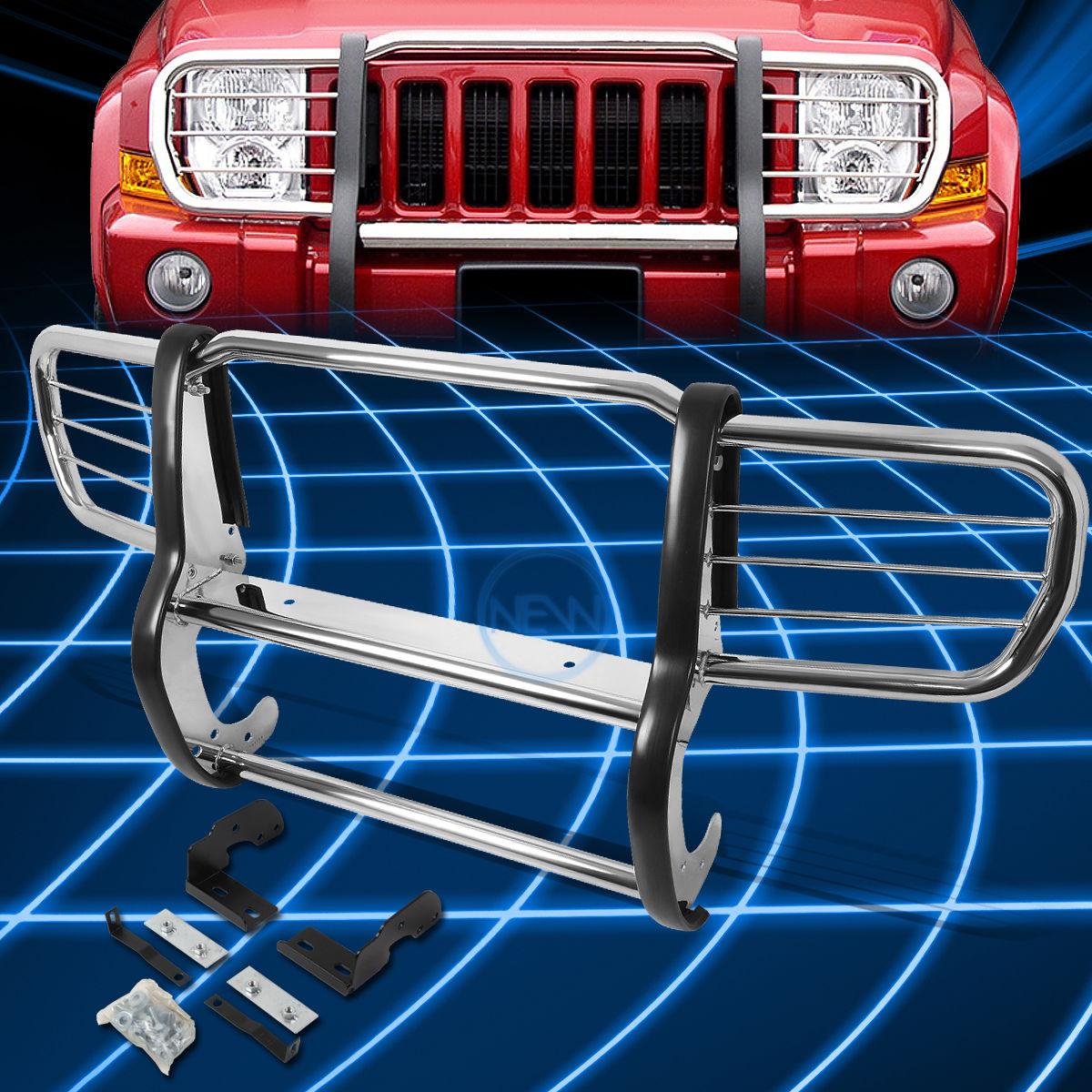 グリル クロームブラシバンパープロテクターグリルガード2006-2010ジープコマンダーXK SUV用 Chrome Brush Bumper Protector Grille Guard for 2006-2010 Jeep Commander XK SUV