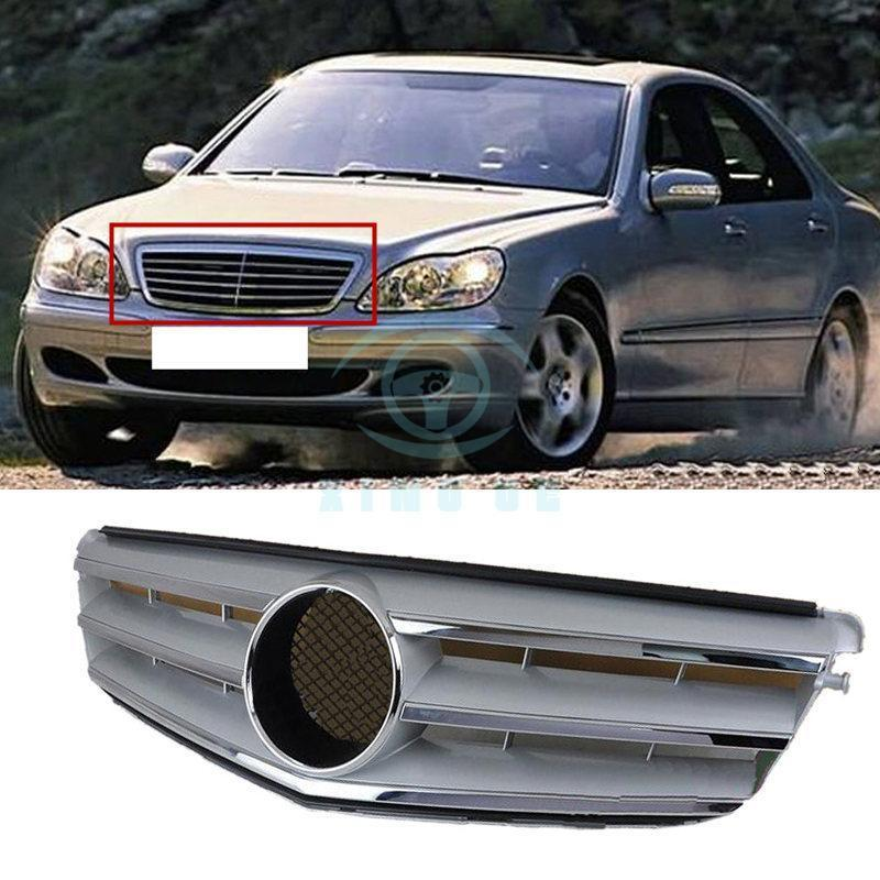 グリル ベンツSクラスW220用2003-05 Refit保護フロントグリルグリルガードスポーツ For Benz S Class W220 2003-05 Refit Protective Front Grille Grill Guard Soprt