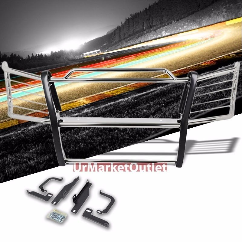 グリル クロームマイルドスチールフロントバンパーブラシグリルガード03-06 Silverado 1500HD / 2500 Chrome Mild Steel Front Bumper Brush Grill Guard For 03-06 Silverado 1500HD/2500