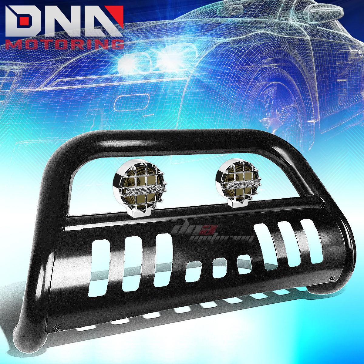 グリル FOR 02-09ダッジRAM 1500/2500/3500 BLACK BULLバーグリルガード+ SMOKED FOGライト FOR 02-09 DODGE RAM 1500/2500/3500 BLACK BULL BAR GRILLE GUARD+SMOKED FOG LIGHT