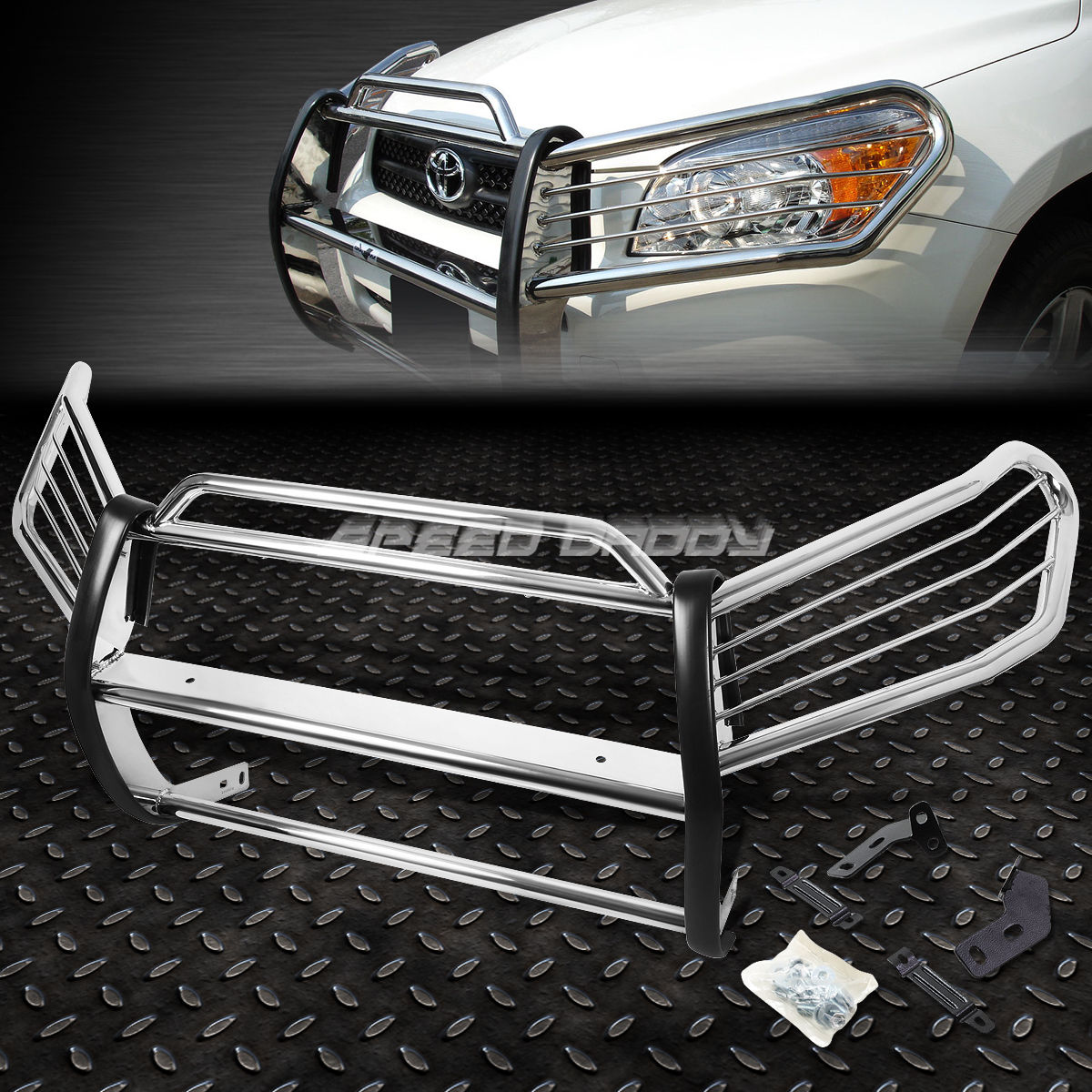 グリル クロームステンレスフロントグリルガード炎96-00 TOYOTA RAV4 XA30 SUV用 CHROME STAINLESS STEEL FRONT GRILL GUARD FLAME FOR 96-00 TOYOTA RAV4 XA30 SUV