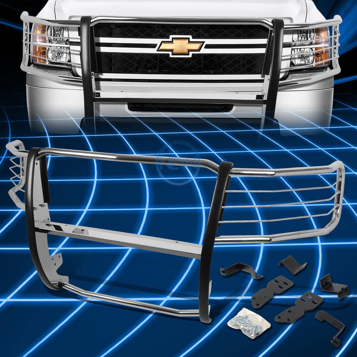 グリル 2007-2013シボレーシルバラード1500用クロームブラシバンパープロテクターグリルガード Chrome Brush Bumper Protector Grille Guard for 2007-2013 Chevy Silverado 1500