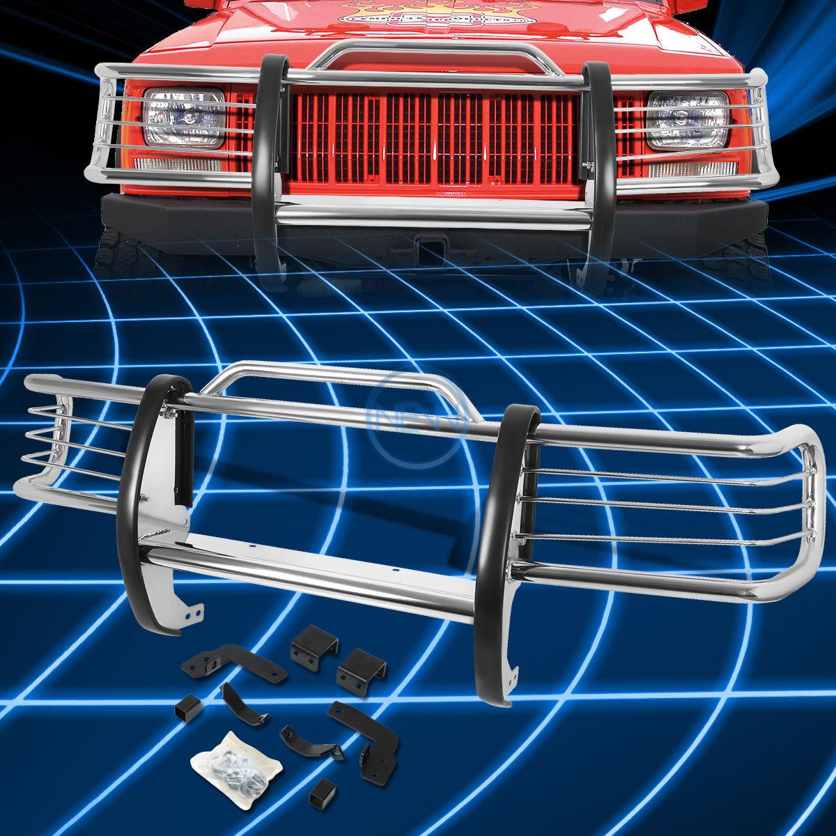 グリル クロームブラシバンパープロテクターグリルガード1984-2001ジープチェロキーXJ SUV Chrome Brush Bumper Protector Grille Guard for 1984-2001 Jeep Cherokee XJ SUV