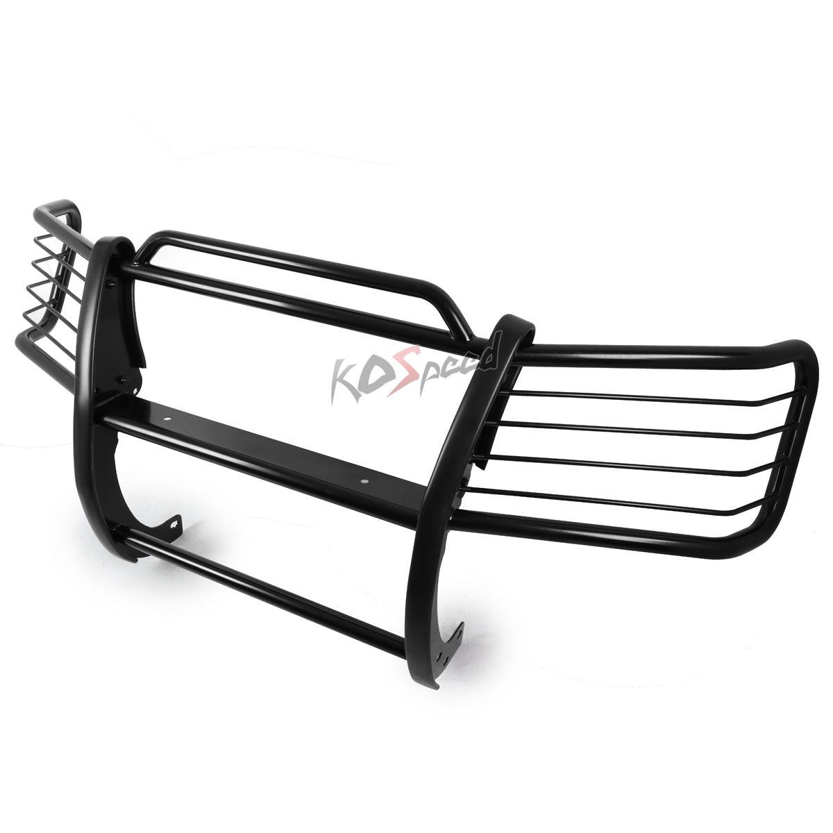 グリル 01-07トヨタハイランダーXU20用ブラックマイルドスチールブラシグリルガードフレームバー Black Mild Steel Brush Grille Guard Frame Bar for 01-07 Toyota Highlander XU20
