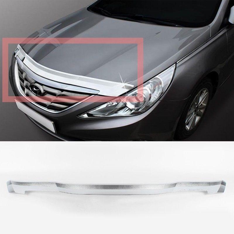 グリル フロントクロムボンネットガードガーニッシュモールディング1p用10 11 12 13現代YFソナタ Front Chrome Bonnet Guard Garnish Molding 1p For 10 11 12 13 Hyundai YF Sonata