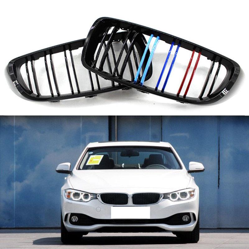 グリル BMW 4シリーズ2014-2016用フロントバンパーカーグリルガードダブルライン3色 For BMW 4Series 2014-2016 Front Bumper Car Grille Guard Double Line 3 Color