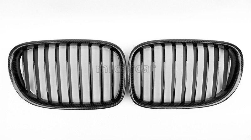グリル ブラックフロント腎臓グリルベントグリルは、BMW 7seriesに適合F01 F02 F03 2008-14 Black Front Kidney Grilles Vents Grills Fit For BMW 7seriers F01 F02 F03 2008-14