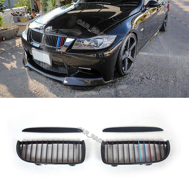 グリル フロントフードグリルグリルグロスブラックMカラーフィットBMW E90 E91 3Series 05-08 Front Hood Grill Grille Gloss Black M Color Fit For BMW E90 E91 3Series 05-08