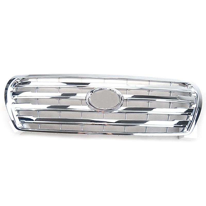 グリル トヨタLandcruiser 12-15のためのABSクロム車のフロントグリルガードスポーツカバートリム ABS Chromed Car Front Grille Guard Sport Cover Trim For Toyota Landcruiser 12-15