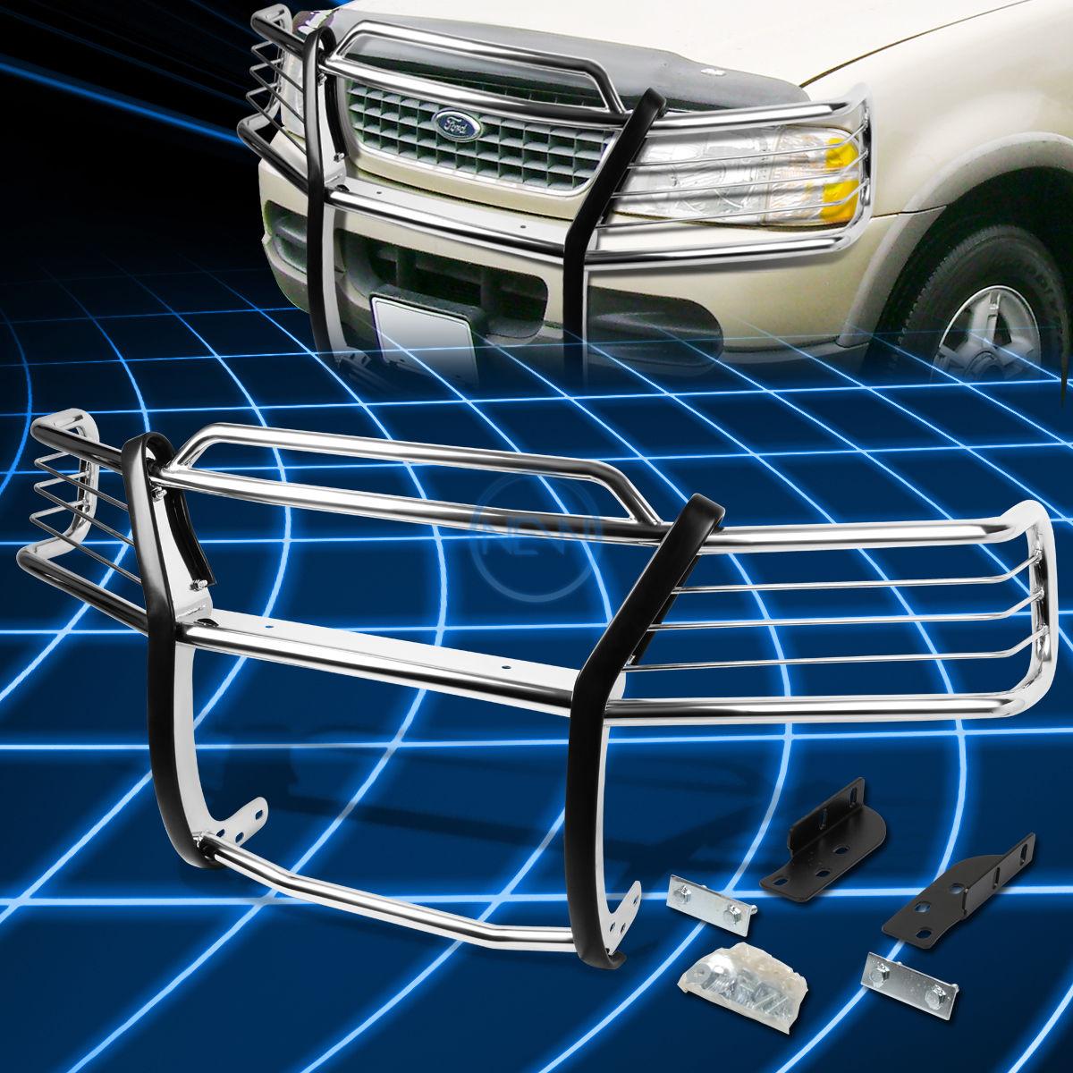 グリル クロームブラシバンパープロテクターグリルガード2002-2005フォードエクスプローラー4ドア Chrome Brush Bumper Protector Grille Guard for 2002-2005 Ford Explorer 4-Door