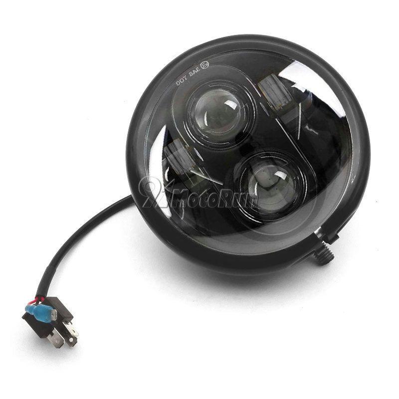 ハーレー ヘッドライト 5 3/4 5.75 LEDプロジェクターDaymaker Headlight + Housing For Harley Dyna Sportster 5 3/4 5.75 LED Projector Daymaker Headlight + Housing For Harley Dyna Sportster