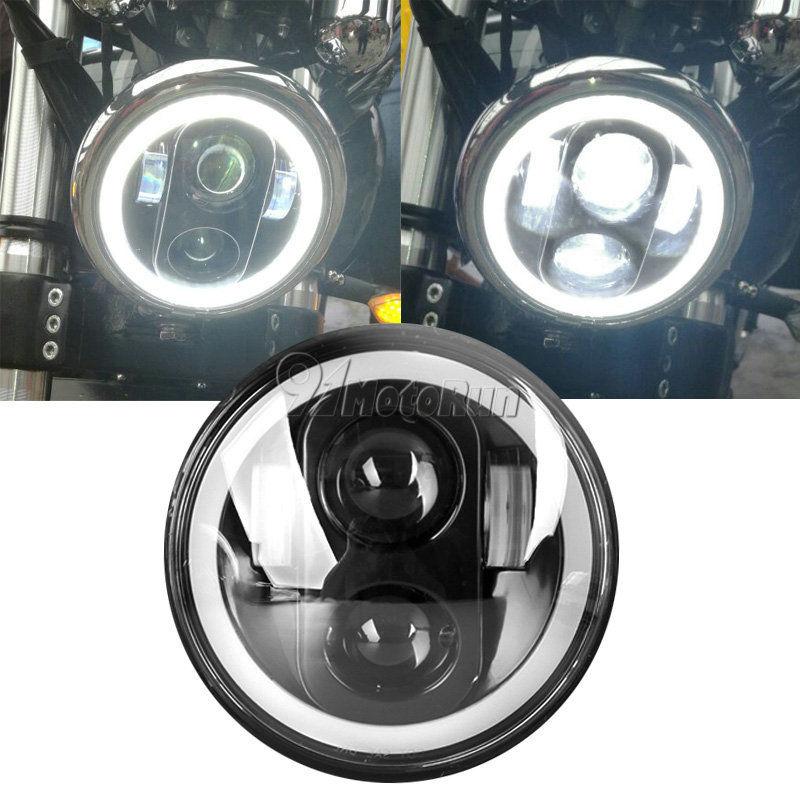 ハーレー ヘッドライト ハーレー・スポーツスターXL 1200 883のための5-3 / 4 ''プロジェクションデイメーカーヘッドライトアングル・アイ 5-3/4'' Projection Daymaker Headlight Angle Eye For Harley Sportster XL 1200 883