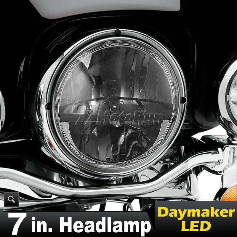 ハーレー ヘッドライト 7インチLEDプロジェクターDaymakerヘッドライトHi / LoハーレーストリートグライドFLHXツーリング用 7