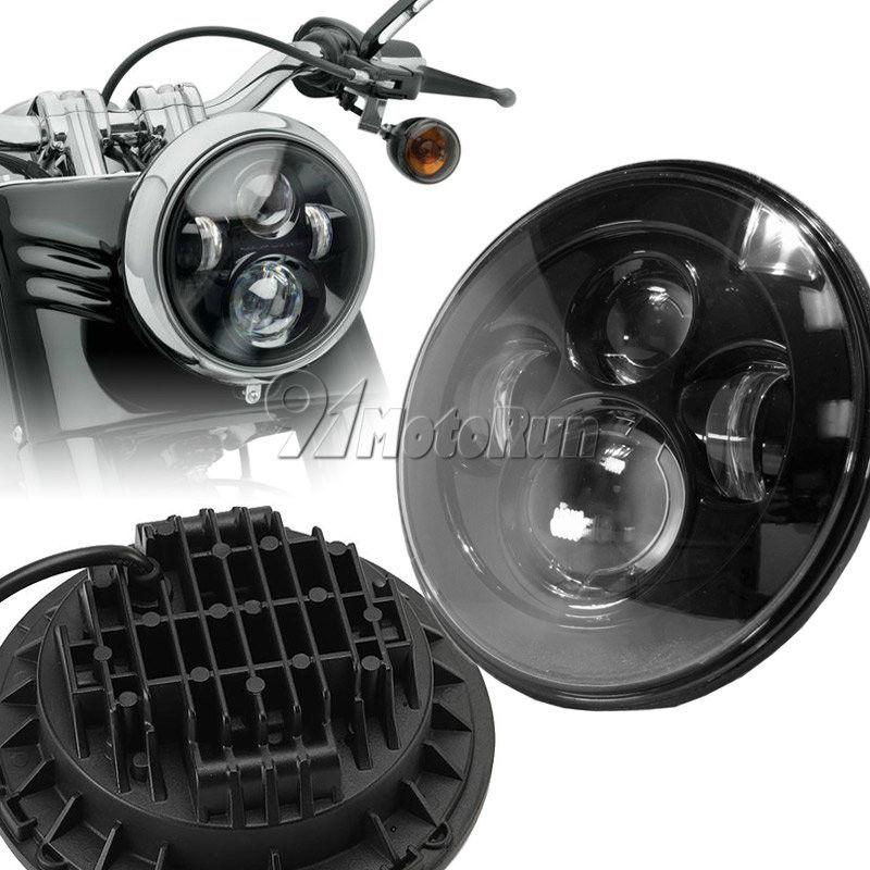 ハーレー ヘッドライト 7インチプロジェクターDaymaker LEDヘッドライト、ハーレーストリートグライドツーリングFLHR FLHT 7