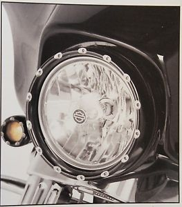 ヘッドライト アレン・ネース・ブラック・ファイア・リング・ヘッドライト・ベゼル/ランニング・ライト4ハーレー・フラット ARLEN NESS BLACK FIRE RING LED HEADLIGHT BEZEL W/ RUNNING LIGHTS 4 HARLEY FLST