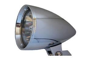 ヘッドライト クロムビレットバイパーバイクオートバイチョッパーヘッドライトハーバー用5.75 x 8トリブH4バルブ Chrome Billet Viper Motorcycle Chopper Headlight 5.75 x 8 Tribar H4 Bulb for Har