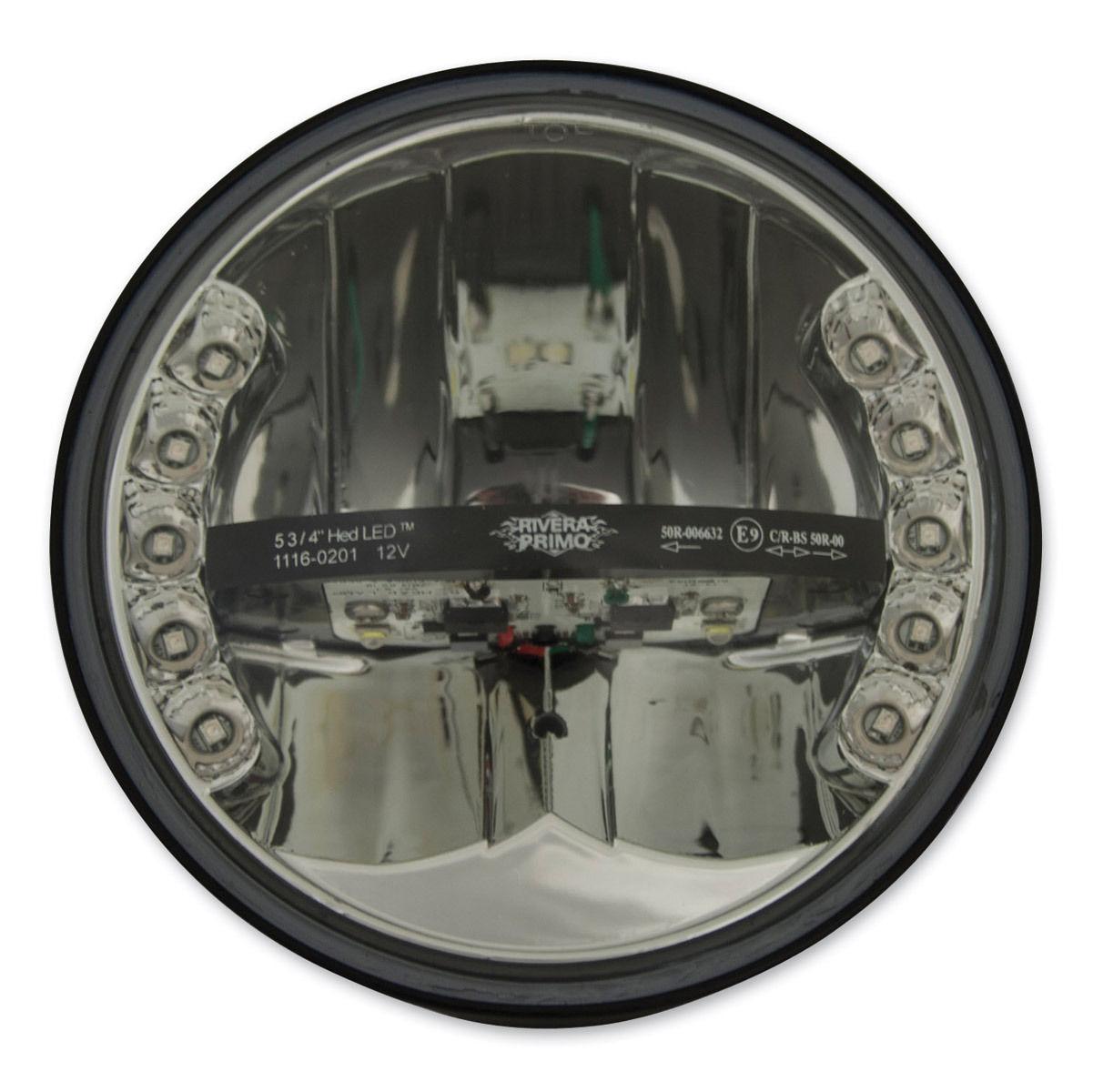 ヘッドライト プリモ・リベラ5 3/4フェーズ3 HEDはハーレーまたはメトリのヘッドライトW / Primo Rivera 5 3/4 Phase 3 HED Led Headlight W/ Turn Signals for Harley or Metri