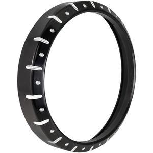 フジオカシ ヘッドライト ローランドサンズRSDクロノ7ブラックコントラストカットヘッドライトベゼルトリムリングハーレー Roland Sands RSD Harley 7 Chrono Ring 7 Black Contrast Cut Headlight Bezel Trim Ring Harley, 銀蔵:0c378478 --- canoncity.azurewebsites.net
