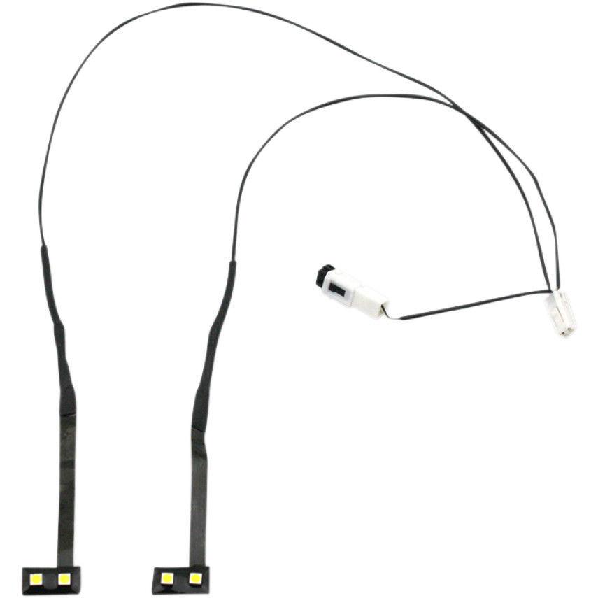 風防 カスタムダイナミクスLEDハーレーバットウィングFLH / T 14-16用フェアリングベントライトキット Custom Dynamics LED Fairing Vent Light Kit for Harley Batwing FLH/T 14-16