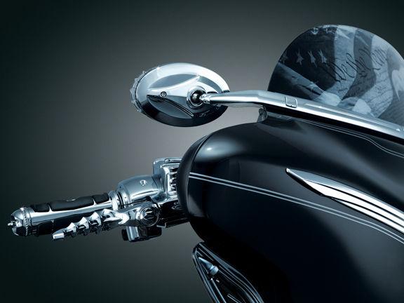 風防 Kuryakyn ChromeフロントガラスマウントブラインドスポットミラーHarley FLHT / FLHX 96-13 Kuryakyn Chrome Windshield Mounted Blind Spot Mirrors Harley FLHT / FLHX 96-13