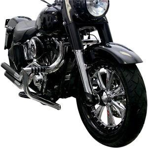 エンジンガード Lindby Chrome MagnumBarフロントハイウェイバーエンジンガードハーレーFLST FLS 00-15 Lindby Chrome MagnumBar Front Highway Bar Engine Guard Harley FLST FLS 00-15