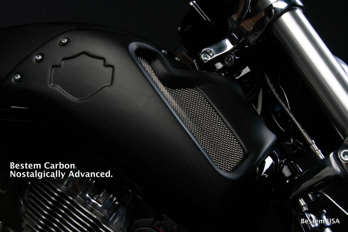 リアフェンダ V-ROD ハーレーダビッドソンVRSCF V-ロッドマッスルカーボンファイバーサイドフェアリング、マット仕上げ Harley Davidson VRSCF V-Rod Muscle Carbon Fiber Side Fairings, Matte finish