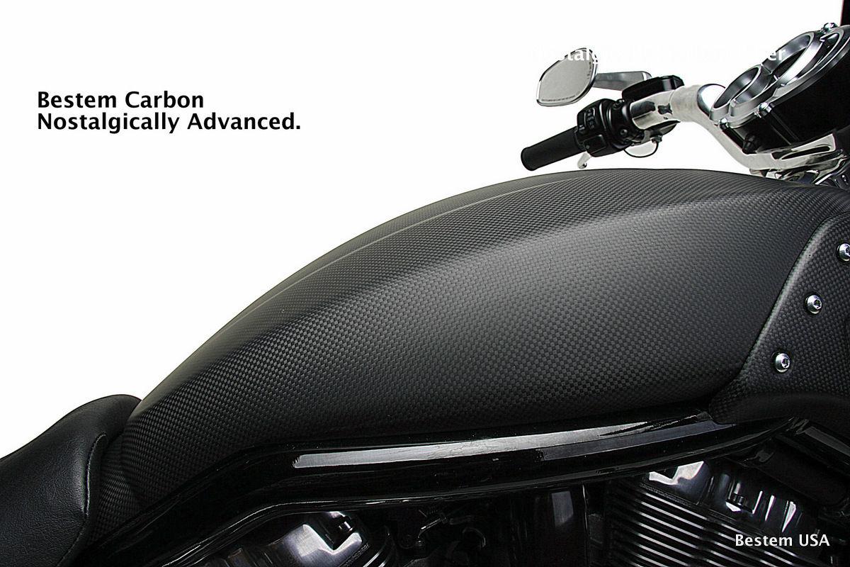 リアフェンダ V-ROD ハーレーダビッドソンVRSCF V-ロッドマッスルカーボンファイバータンクカバー、マット仕上げ Harley Davidson VRSCF V-Rod Muscle Carbon Fiber Tank Cover, Matte finish