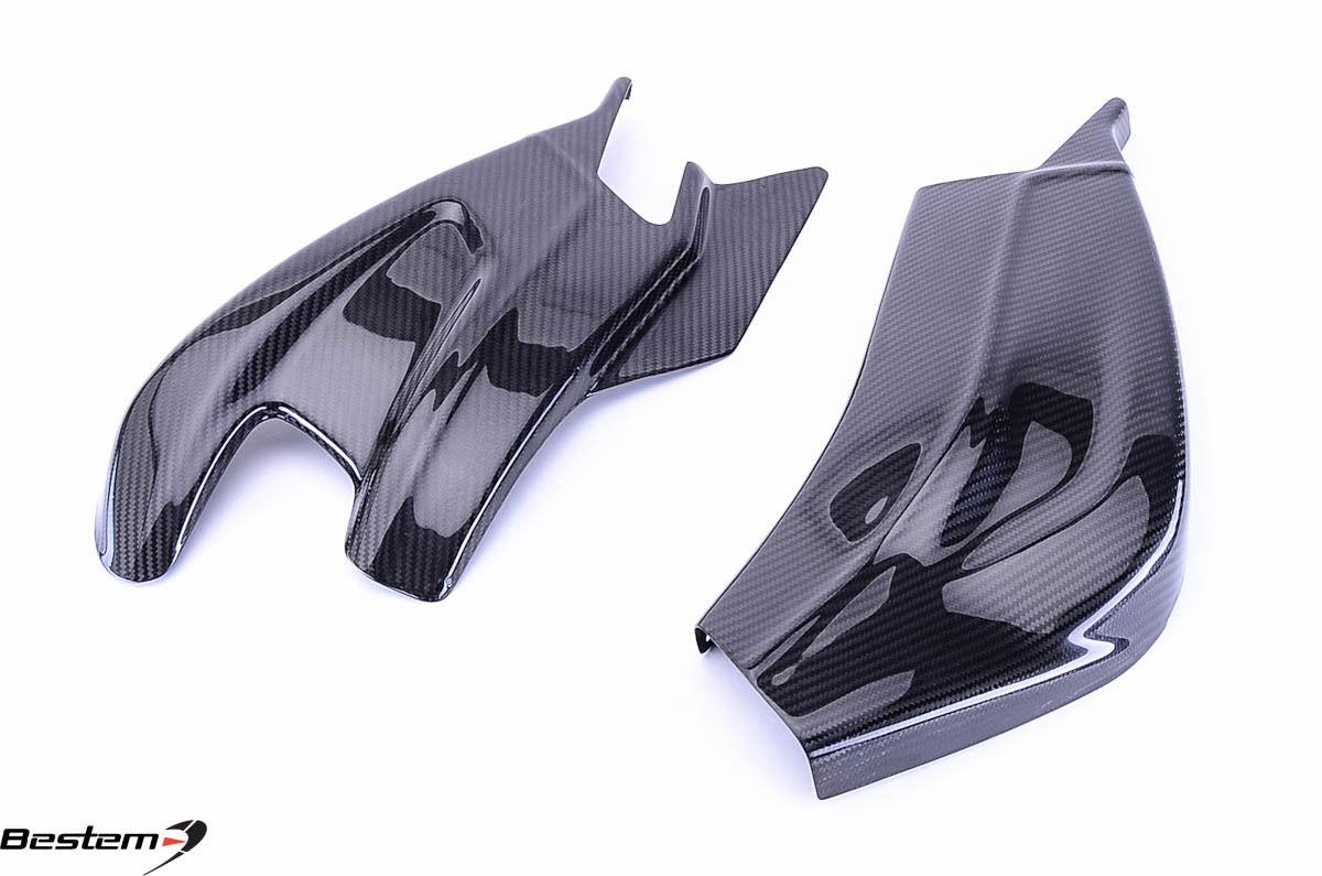 USバイク フェンダー カウル BMW 2009-2015 BMW S1000RR 100%炭素繊維スイングアームカバーw下部チェーンガード 2009-2015 BMW S1000RR 100% Carbon Fiber Swingarm Covers w Lower Chain Guard