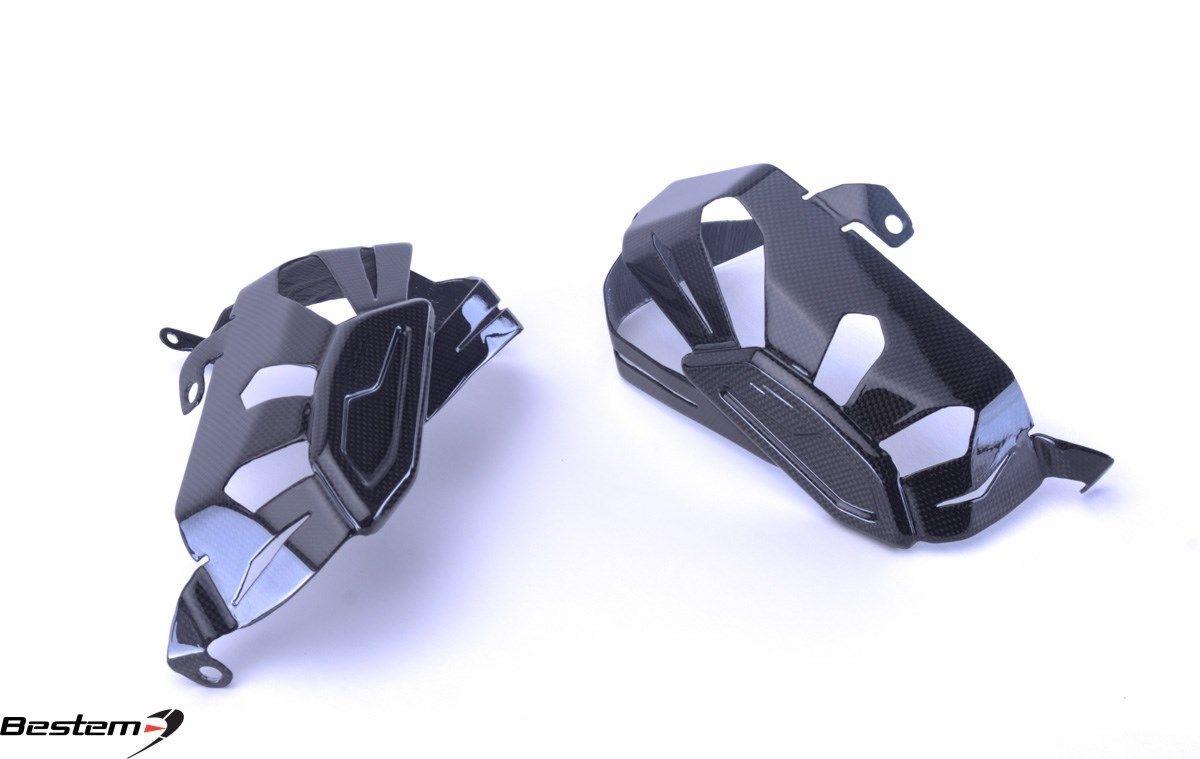 USバイク フェンダー カウル BMW 2013 - 2016 BMW R1200GS / RTカーボンファイバーエンジンバルブシリンダーヘッドガードプロテクター 2013 - 2016 BMW R1200GS /RT Carbon Fiber Engine Valve Cylinder Head Guard Protec