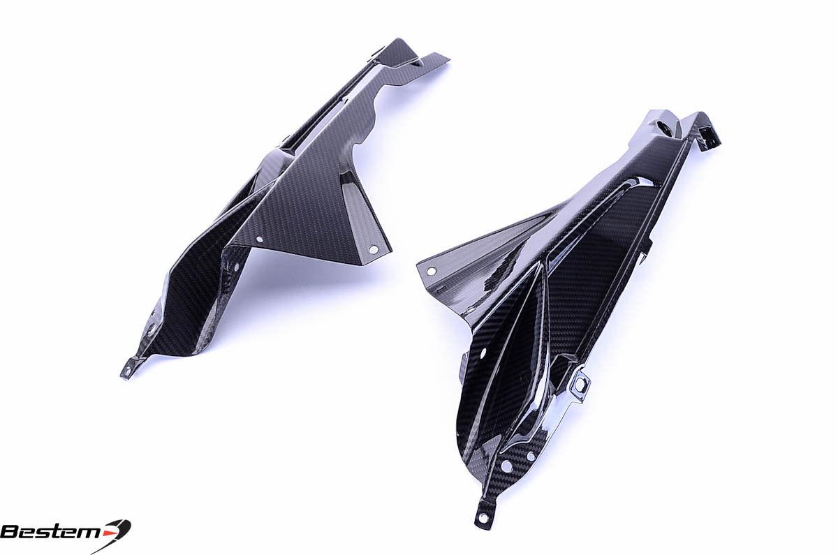 USバイク フェンダー カウル BMW 2009 - 2014 BMW S1000RR HP4 100%炭素繊維サイドパネルフェアリングツイル 2009 - 2014 BMW S1000RR HP4 100% Carbon Fiber Side Panels Fairings Twill